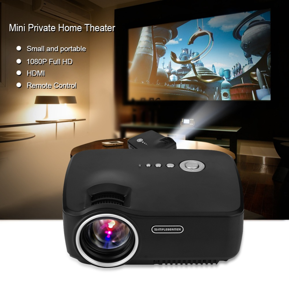 Mini LED Protable Projector Full HD 1080P 30-80inches 4.0 TFT-LCD HDMI Active 3D Video LED Home Theater Projector 1200 Lumens EU cheap china digital 1000lumens hdmi usb home theater best hd 1080p portable pico lcd led video mini projector beamer proyector