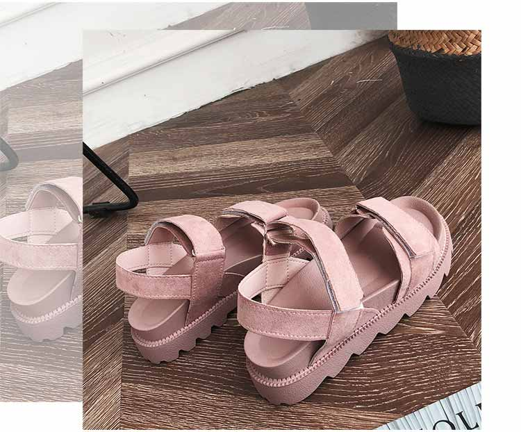 Women shoes adult solid sandals women 2019 fashion med heel height women sandals flat with casual shoes woman sandals female  (14)