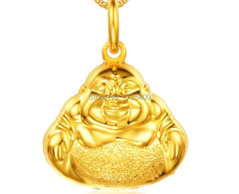 Pure 999 24K Solid Yellow Gold Pendant 3D Bless Buddha Pendant 2 5g