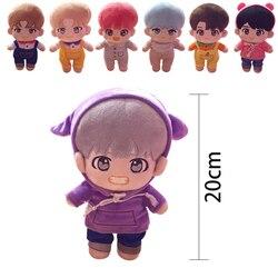 SGDOLL 2019 nueva Kpop muñeca JIMIN Suga RM J espero que Jungkook V JIN de peluche de juguete de peluche muñeca con ropa Fans colección de regalo para las niñas