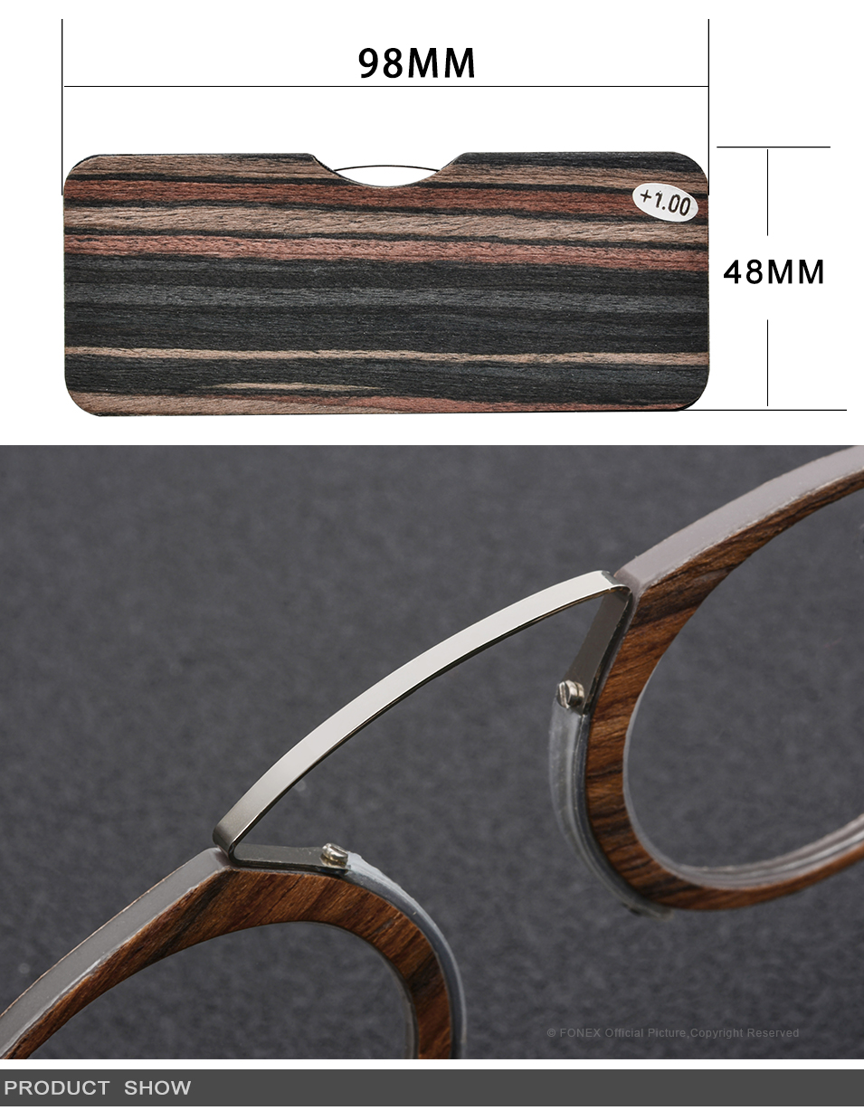 da558e0509 Pince Nez Style Clamp Nose Resting Pinching Reading Glasses – Fonex ...