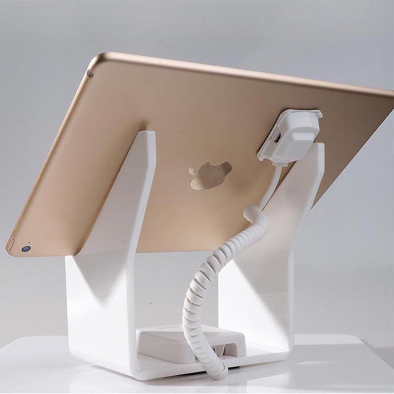 Tablet security alarm Ipad display stand andriod anti theft holder charging apple mount devices for retail phone shop sales 10xcell phone security stand mobile phone display smartphone burglar alarm system ati theft holder for electronics retail shop