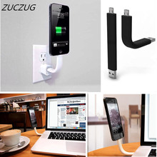 ZUCZUG Micro Flexible USB Data Charger Cable for IPhone 5s 6s Mini Bend Holder Sync Data Transfer Line for Samsung Galaxy S3/5/6 стоимость