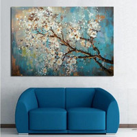 Large 100 Handpainted Abstract Flowers Tree Oil Painting On Canvas Modern Wall Art Floral Pictures For