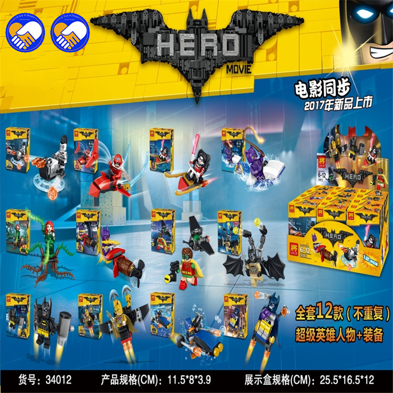 A toy A dream Super Heroes Movie Joker Poison Ivy Calendar of People Batman Robin Bricks Building Blocks Toys LELE 34012 l a movie