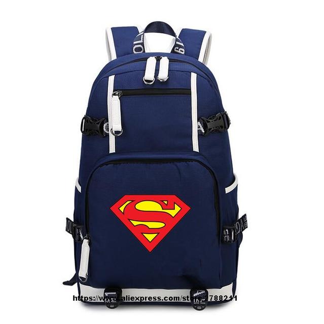b2f320595b38 Batman Super Hero Superman oxford backpack teenagers boy girl s School Bags  travel Shoulder Bag Laptop Bags
