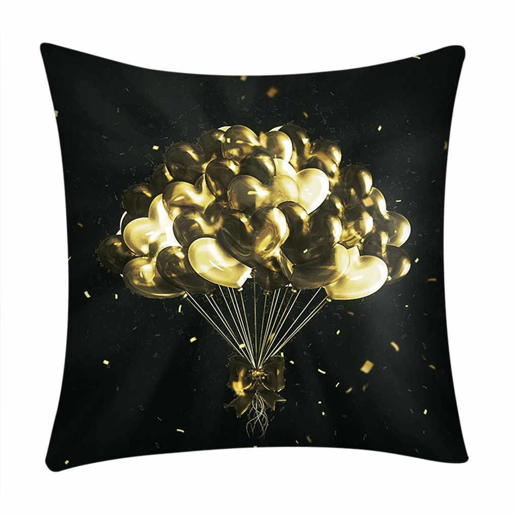 ロマンチックなバレンタインの日のギフトの枕装飾品プリント枕ケースポリエステルホーム装飾クッション枕カバー 9 パターン
