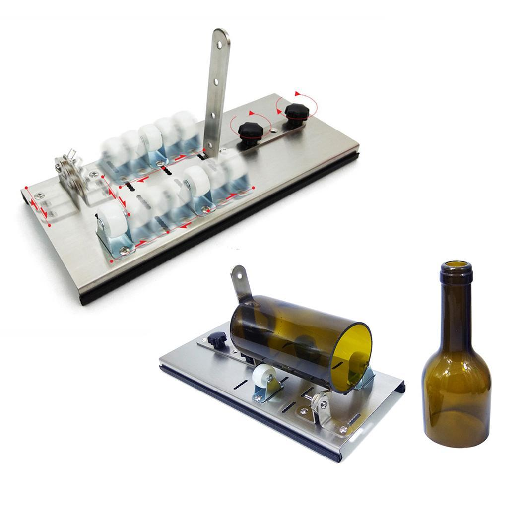 Glass Bottle Cutter 2-10mm Beer Wine Jar Accurate Cutting Machine DIY Recycle Cutting Tool Kit Stainless Steel Smoothly Cutting