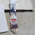 2017 Menina Dos Desenhos Animados Impressão 6 CM Homens Garantia de Qualidade da Festa de Casamento Gravata Masculina Gravata Business Casual Noite ML046