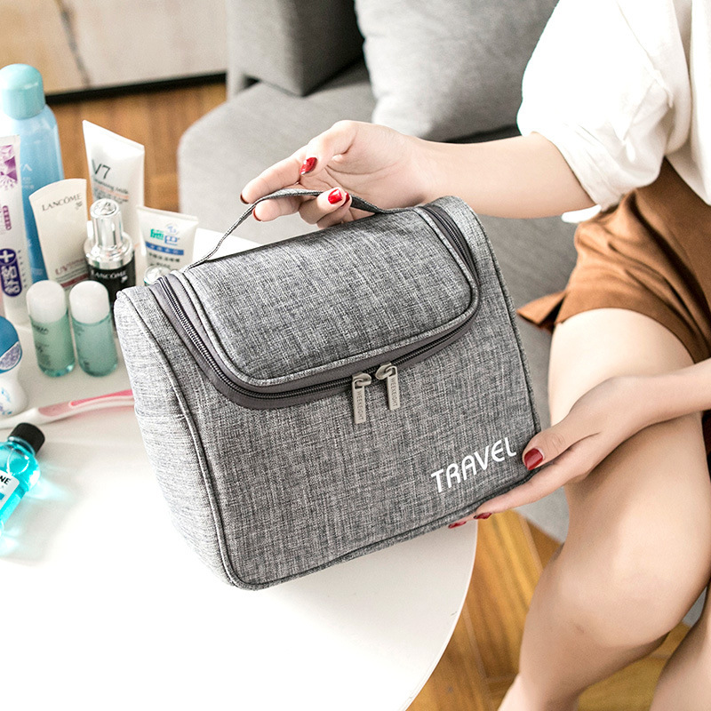 Fashion Women Makeup Bag Travel Shower Organizer For Cosmetics Kit Womens Beauty Vanity Toilet Bath Hanging Large Toiletry Pouch