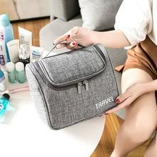 Fashion Women Makeup Bag Travel Shower Organizer For Cosmetics Kit Wome