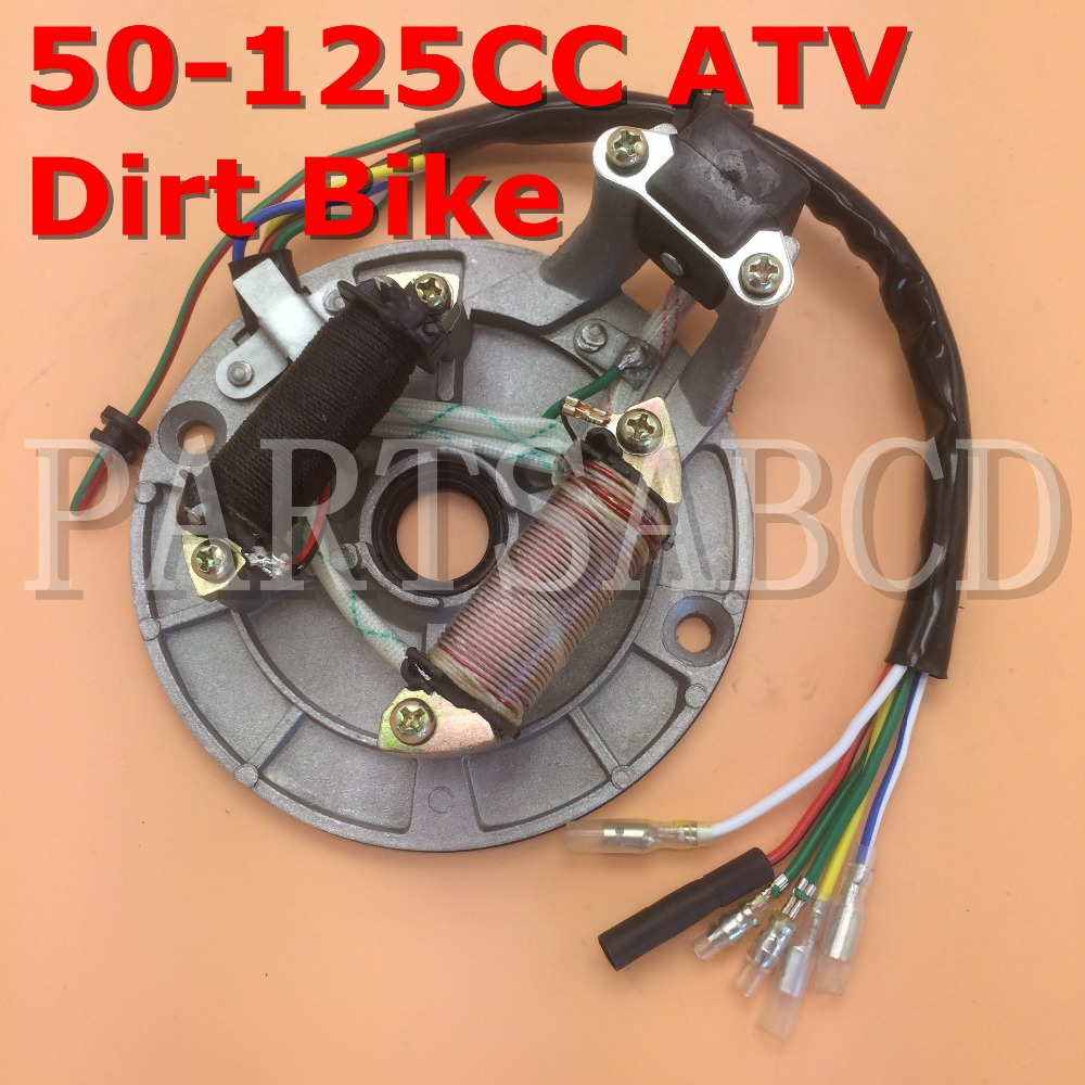 Back To Search Resultsautomobiles & Motorcycles Forceful Partsabcd Magneto Stator Plate 70cc 90cc 110cc 125cc Dirt Bike Atv Go Kart Chinese 2 Coil Durable In Use