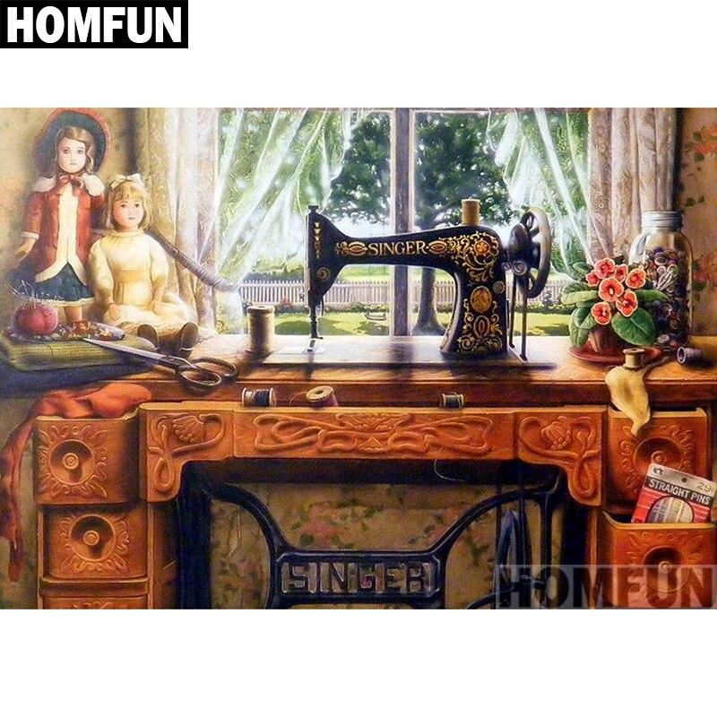 HOMFUN полностью квадратная/круглая дрель 5D DIY Алмазная картина