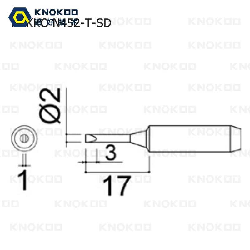 50pieces/lot KNOKOO N452 T SD soldering Iron Tip for Dash