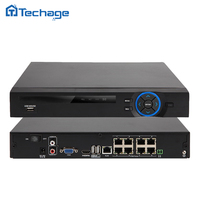 Genuine 48V 8CH 1080P POE NVR CCTV NVR XMEYE P2P ONVIF Real Time Recording Network Recorder