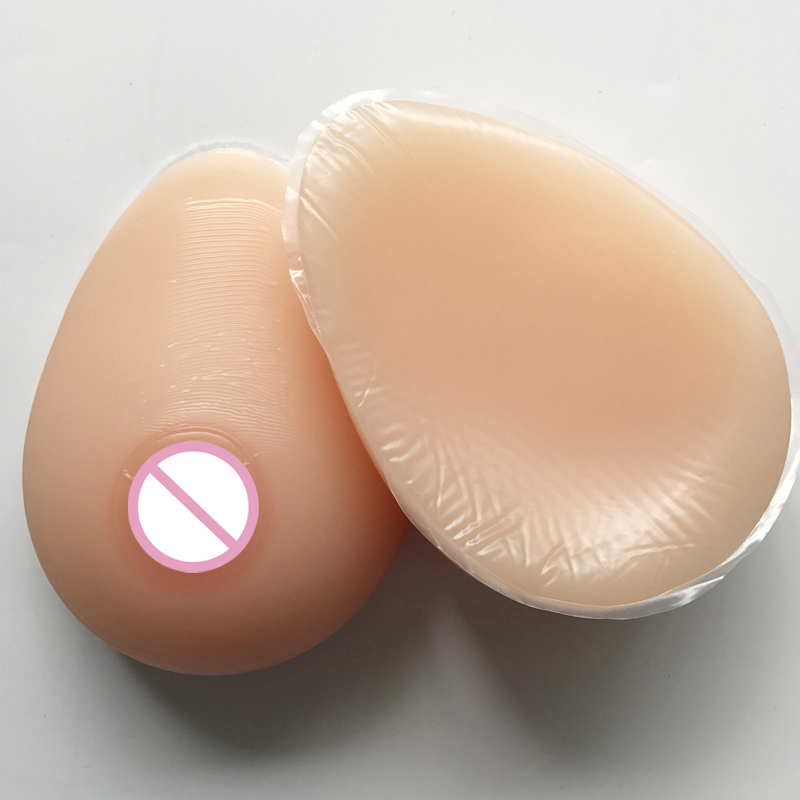цена на D Cup Realistic Silicone Breast Forms Artificial Boobs Enhancer Crossdresser for Mastectomy Shemale 1000g /pair