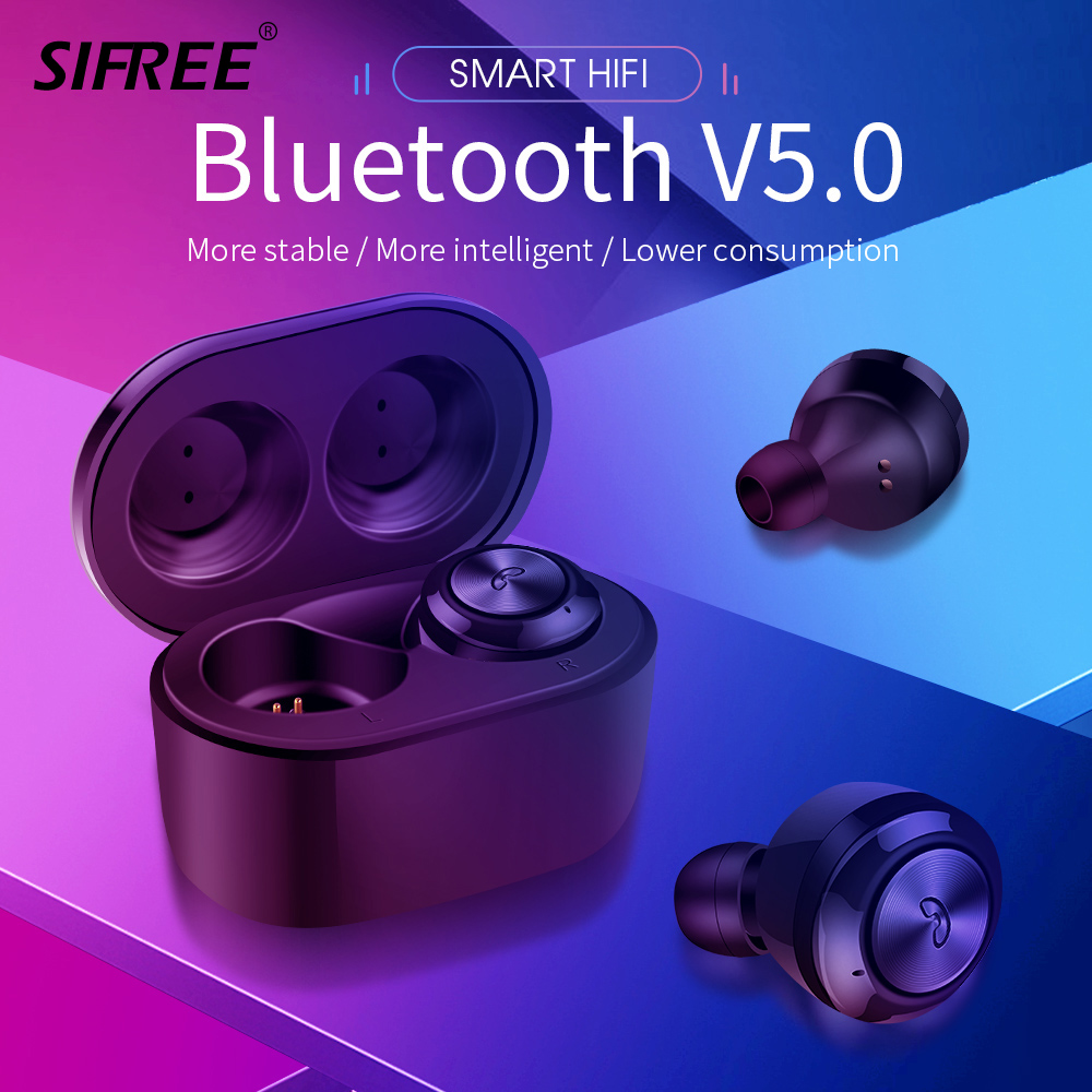 TWS Bluetooth Earphone Earbuds Touch Control Hifi Stereo