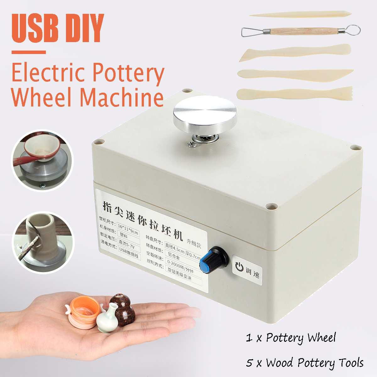 Mini USB argile faisant la Machine de poterie pistolet à Air chaud pour bricolage artisanat en céramique Art outil