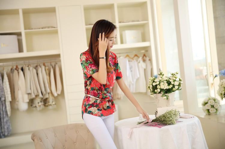 HTB1NlyoNXXXXXa2XVXXq6xXFXXXN - 2016 high quality Summer style Kimono blouses top Plus size XS-5XL