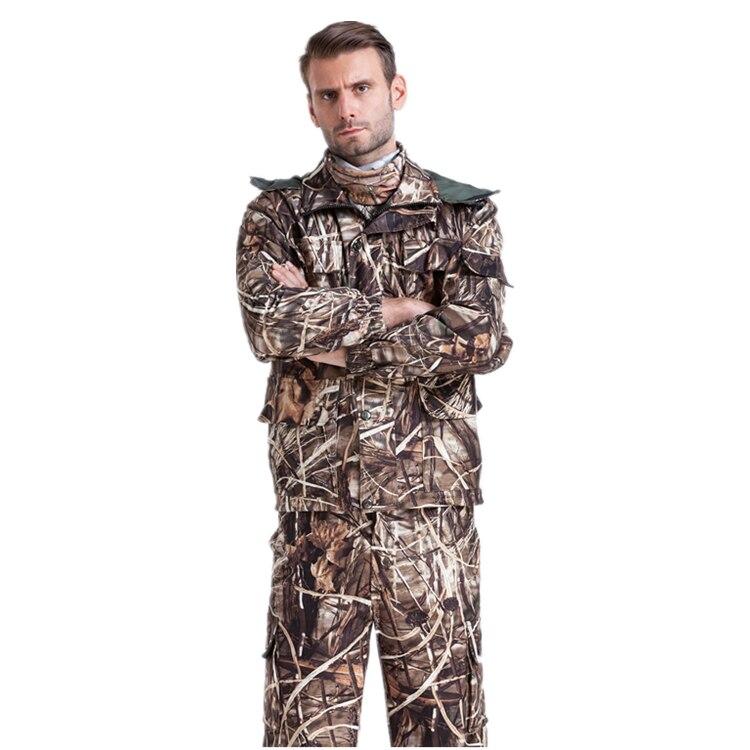 GroßZüGig In Herbst Winter Reed & Rohrkolben-maschine Camouflage Outdoor Bionic Kleidung Ghillie Anzug Tactical Military Kleidung Jacke Und Hose Jagd-tarnanzug