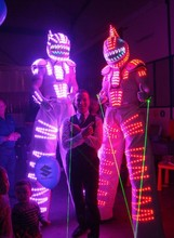 Free Shipping LED Laser co2 robot suit costume / tron LED Light suit