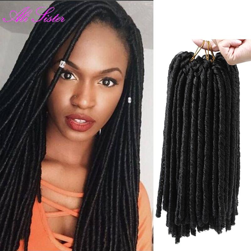 Soft Locs Crochet Braid Hair Faux Locs Ombre Braiding Hair Extension For Braids Dreadlocks ...