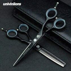 5.5/6.0 teflon tesoura de cabelo navalha cabeleireiro venda profissional cabeleireiro tesoura barbeiro clipper japão corte cabelo