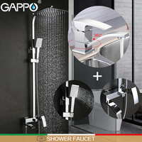 GAPPO Shower Faucets Bathroom Tub Mixers Basin Faucet Basin Mixer Rainfall Shower Set Bathroom Faucet Mixer