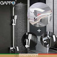 GAPPO Shower Faucets bathroom tub mixers basin faucet basin mixer rainfall shower set bathroom faucet mixer