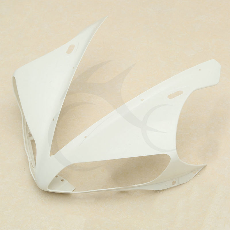 NEW UPPER FRONT FAIRING COWL NOSE ABS FOR YAMAHA YZF R1 YZF-R1 2004 2005 2006 upper front fairing cowl nose fits for yamaha 2004 2005 2006 yzf r1 injection mold abs plastic