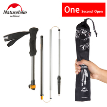 Naturehike Hiking Walking Stick 5 Section Telescopic Cane Travel Mountain Climbing One Second Speed Open Trekking Poles