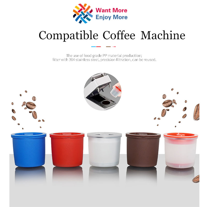 3Pcs Reusable iperEspresso Capsule Refillable Coffee Filter X9 X8 Y5 Y3 Coffee Filter Baskets Capsules Coffee