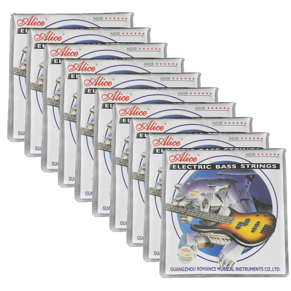 10Sets Alice Electric Bass Strings Nickel Alloy Wound GDAEB 5 Strings Set A606 5 M