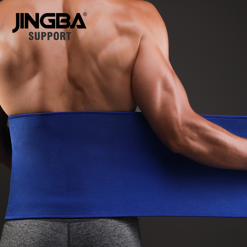 JINGBA SUPPORT Men Fitness belt waist support Sweat trainer Women trimmer Weight Loss slimming neoprene