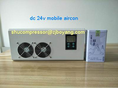 24v DC Compressor Walk in Solar cooling unit air conditioner portable for camping truck cabin made in china boyard 12 24v compressor of portable air conditioner for cars portable freezer portable drink cooler