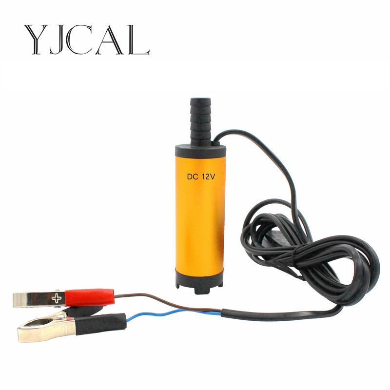 Car Electric Submersible Pump 38MM DC 12V 24V Suction Fuel Oil Water Disel Pump Aluminium Alloy Material Engine Transfer Pump 51mm dc 12v water oil diesel fuel transfer pump submersible pump scar camping fishing submersible switch stainless steel