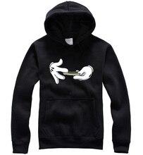 2015 frühling Hip-Hop 100% baumwolle sweatshirt skateboard swag kängurutasche pullover Hoodies unkraut geliebtsport