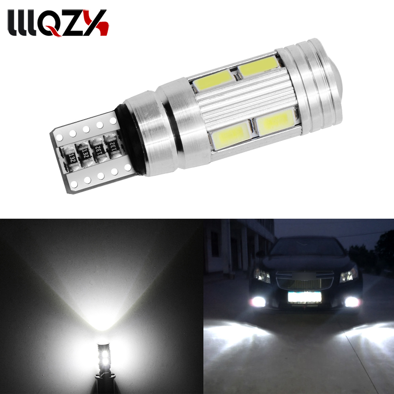 все цены на 1PCS Car Styling Car Auto LED T10 Canbus 194 W5W 10 SMD 5630 LED Light Bulb No Error LED Light Parking T10 LED Car Side Light онлайн