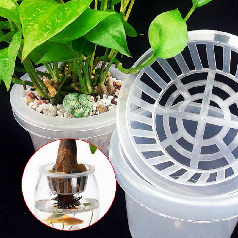 Aquarium Tray Plant Culture Blue Plants Growth Plastic Mesh Net Cloning
