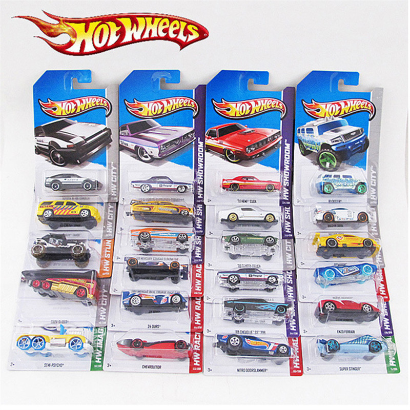 Random 4 pieces Hotwheels mini metal car hotwheel track racing sports Alloy model car br ...