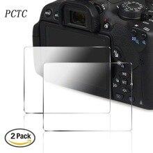 PCTC 2 Пакеты Камеры Протектор Экрана для 700D T5i 750D 760D T6i T6S, Против царапин с антибликовым покрытием Закаленного Стекла