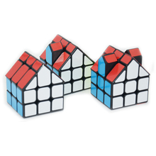 FangGe House Shaped Speed Magic Cube 3x3x3 Puzzle Game Cubes Educational Toy for Kids Child