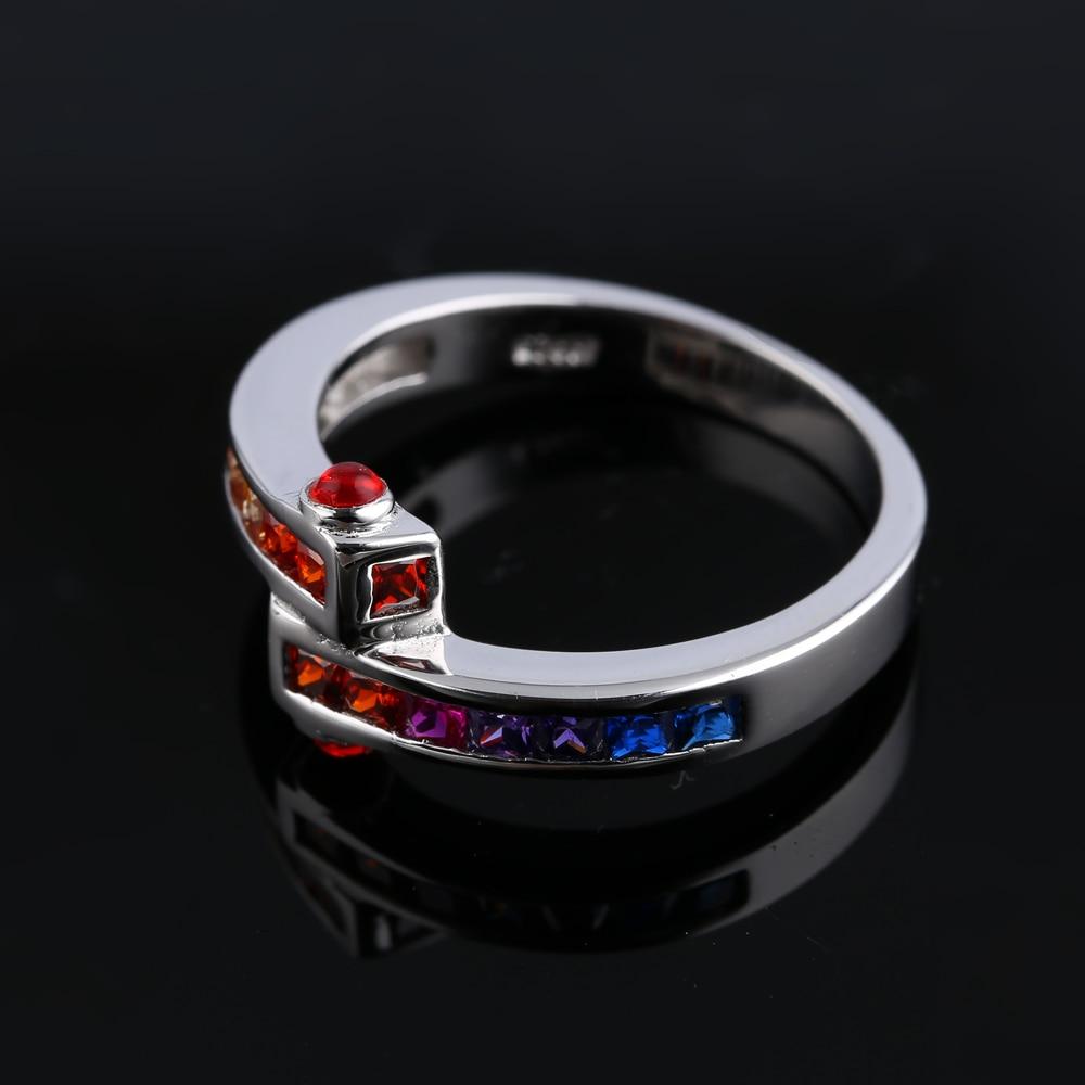 TL oscuro colorido Zircon corona su Reina diseño de moda hueco de acero inoxidable anillo de compromiso para las mujeres joyería actual