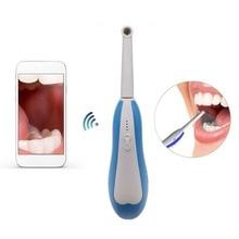 Bezprzewodowa WiFi HD USB wewnątrzustna stomatologiczna kamera wewnątrzustna dentysta urządzenie LED Light w czasie rzeczywistym inspekcja wideo narzędzie do wybielania zębów