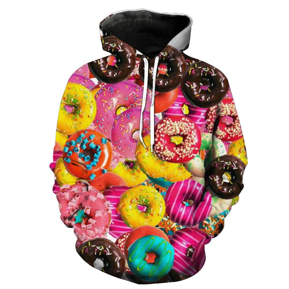 CHIC Women Men Funny Cookie Cakes Hoodies Sweatshirt 3D Clothing T Shirt