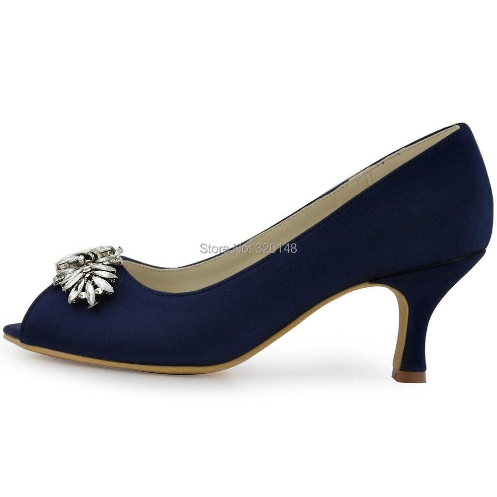 Ladies Navy Blue Dress Shoes