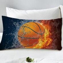 3D Basketbol Yastık Kılıfı Dekoratif Yastık Kılıfı 48x74cm Boyutu 1 ADET Toptan Fiyat