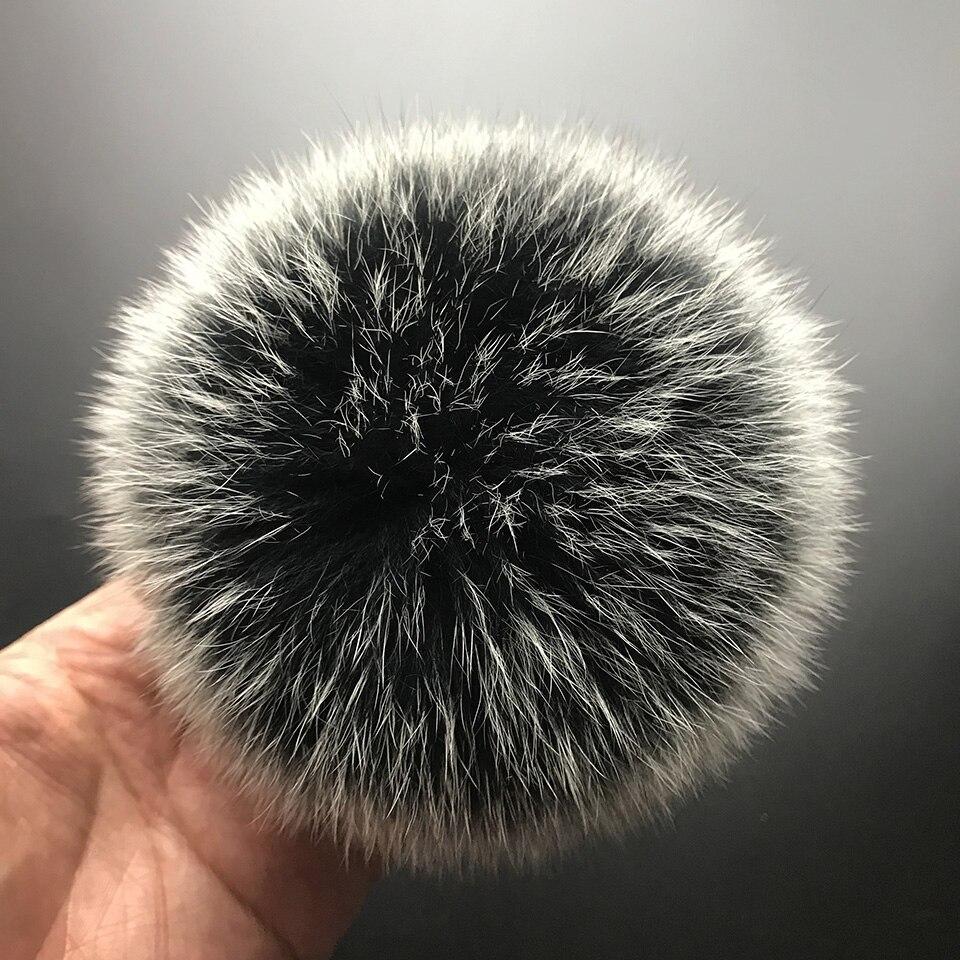 MPPM реальный лисий мех помпон из натурального меха пом Англичане Бал Шапки и шапки большой натуральный меховой помпон мяч для обувь сумки ак... ...