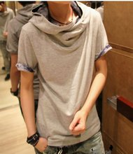 Summer Fashion Men s Clothing Personality Trend Of The With A Hood Hooded Short sleeve T