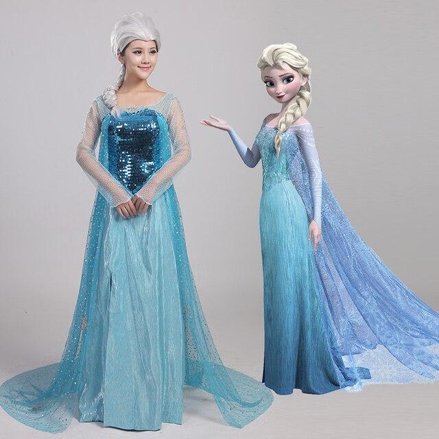 snow queen elsa anna cosplay maskerade erwachsenen prinzessin elsa karnevalskostum halloween kostume fur frauen und